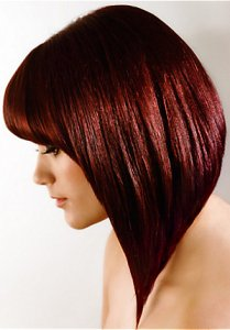 gorgeous red bob, hair cuts at Inspiration hair & beauty salon, Worcester